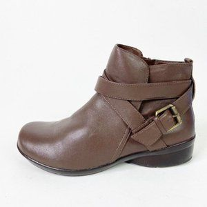 Naturalizer Cassandra Brown Leather Boot WIDE